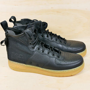 Nike SF Air Force 1 Mid Black Gum Shoes NEW